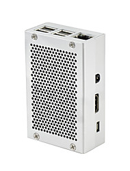 Недорогие -Raspberry Pi 3 алюминиевый корпус металлический корпус коробка для RPI 3 60 мм * 90 мм * 30 мм серебристо-серый