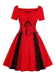 Kvinders Vintage Casualhverdag Plusstørrelser Skede Kjole