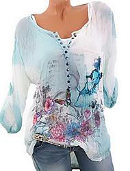 Недорогие -Жен. Рубашка Классический 3D