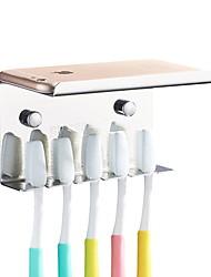 Недорогие -Держатель для зубных щеток Креатив Современный Нержавеющая сталь 1шт На стену