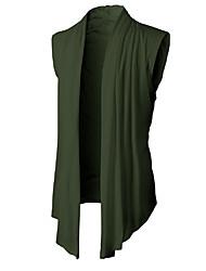 Недорогие -Муж. Повседневные Однотонный Без рукавов Обычный Кардиган Темно-серый / Военно-зеленный / Светло-серый L / XL / XXL
