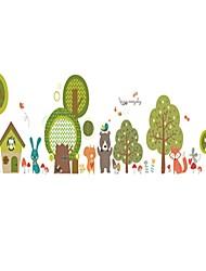 Недорогие -Декоративные наклейки на стены - Простые наклейки Пейзаж / Цветочные мотивы / ботанический Столовая / Детская