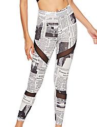 billige -Dame Daglig Basale Legging - Geometrisk Høj Talje