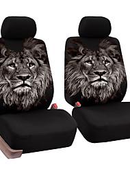Недорогие -универсальный переднее сиденье автомобиля полный пакет подушки уникальный рисунок льва дышащая крышка сиденья