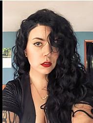 Недорогие -человеческие волосы Remy Полностью ленточные Лента спереди Парик Бразильские волосы Естественные кудри Парик Ассиметричная стрижка 130% 150% 180% Плотность волос
