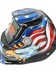 Недорогие -солнечная автоматическая потемнение сварочная шлем модель 107 орел