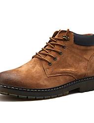 Недорогие -Муж. Армейские ботинки Свиная кожа Наступила зима Ботинки Ботинки Черный / Коричневый / Хаки