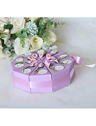 Недорогие -Круглые Мелованная бумага / Шелк Фавор держатель с Вышивка бисером в виде цветов / Пояс / лента Коробочки / Подарочные коробки - 10 шт.