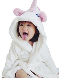 Недорогие -5 предметов Дети Дети (1-4 лет) Девочки Активный Классический Повседневные Однотонный Шнуровка Длинный рукав Длинный Обычная Пижамы Белый