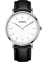 Недорогие -Kopeck Жен. Нарядные часы Наручные часы Японский Японский кварц 30 m Защита от влаги Повседневные часы Натуральная кожа Группа Аналоговый На каждый день Мода Черный / Серый / Шоколадный -
