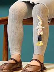 Недорогие -Дети (1-4 лет) Девочки Винтаж Однотонный Хлопок Белье / носки Розовый