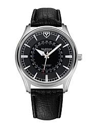 Недорогие -Муж. Спортивные часы Кварцевый Стеганная ПУ кожа Черный / Коричневый Защита от влаги Светящийся Повседневные часы Аналого-цифровые Классика На каждый день Мода -