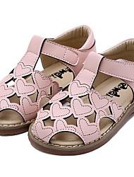 Недорогие -Девочки Обувь Полиуретан Весна / Лето Удобная обувь Сандалии для Дети Белый / Розовый