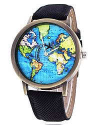 Недорогие -Для пары Наручные часы Кварцевый Кожа Черный / Белый / Синий Секундомер Очаровательный Творчество Аналоговый камуфляж Мода - Кофейный Зеленый Синий Один год Срок службы батареи / SSUO 377