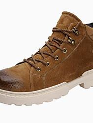 billige -Herre Fashion Boots Ruskind Efterår vinter Sporty / Vintage Støvler Hold Varm Støvletter Sort / Gul / Kaffe