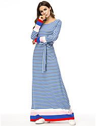 Недорогие -женская ежедневная миди коробка передач синяя m l xl xxl