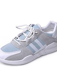 Недорогие -Жен. Сетка Осень На каждый день Спортивная обувь Беговая обувь На плоской подошве Круглый носок Белый / Синий / Розовый / Контрастных цветов