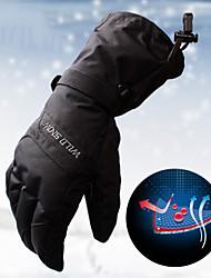 Недорогие -Зимние Лыжные перчатки Универсальные Снежные виды спорта Полный палец Зима С защитой от ветра Дышащий Сохраняет тепло полиэстер для печати Водонепроницаемая ткань