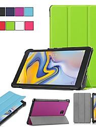 Недорогие -Кейс для Назначение SSamsung Galaxy Tab S2 8.0 со стендом / Флип / Оригами Чехол Однотонный Твердый Кожа PU для Tab S2 8.0 / Tab A 8.0 (2017) / Tab A 8.0