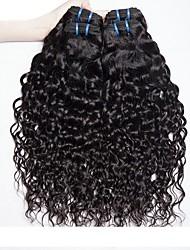 Недорогие -4 Связки Бразильские волосы Индийские волосы Волнистые 8A Натуральные волосы Необработанные натуральные волосы Подарки Косплей Костюмы Головные уборы 8-28 дюймовый Естественный цвет