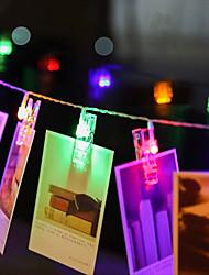 Недорогие -ZDM 4 м 40 шт. светодиодные фонари фото строки 40 фото клипы с питанием от батареи или USB-интерфейс фея мерцают светоизлучающие фотографии карты и иллюстрации теплый белый dc5v