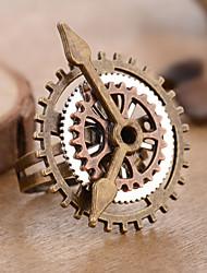 Недорогие -Жен. Ретро Открытое кольцо Регулируемое кольцо - Шестерня гипербола, Мода, Steampunk Регулируется Бронзовый Назначение Маскарад Для улицы