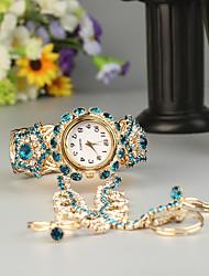Недорогие -FEIS Жен. Часы-браслет Кварцевый Золотистый Секундомер Аналого-цифровые Дамы Мода - Золотой Синий