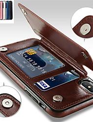 Недорогие -Кейс для Назначение Apple iPhone XR / iPhone XS Max Бумажник для карт / со стендом Кейс на заднюю панель Однотонный Мягкий Кожа PU для iPhone XS / iPhone XR / iPhone XS Max