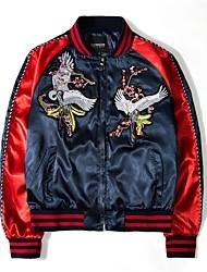 Недорогие -Муж. Куртка Классический - Однотонный / Тонка шерсть С кисточками