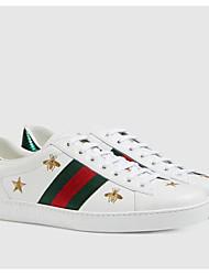 abordables -Homme Chaussures de confort Cuir Nappa Automne Basket Blanc / Noir / Rouge