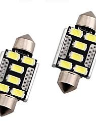 abordables -OTOLAMPARA 2pcs 36mm Automatique Ampoules électriques 3 W SMD 5630 240 lm 6 LED Éclairage extérieur Pour Honda CR-V / Civic / Accord 2018 / 2013 / 2014
