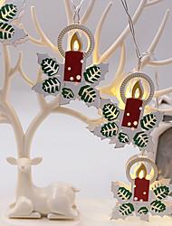 Недорогие -украшение рождественские украшения рождественские украшения снежинка свеча 1 шт