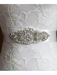 billige -Poly / bomuldsblanding Bryllup / Speciel Lejlighed Ordensbånd Med Imiterede Perler / Krystal / Rhinsten Dame Skærf