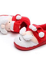 Недорогие -Мальчики / Девочки Удобная обувь Хлопок Тапочки и Шлепанцы Малыш (9м-4ys) / Маленькие дети (4-7 лет) / Большие дети (7 лет +) Пом пом Красный Зима