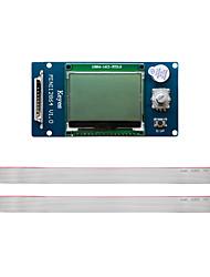 Недорогие -3d дисплей принтера mks mini 12864 жк-контроллер поддерживает китайскую версию карты sd боковой вставки