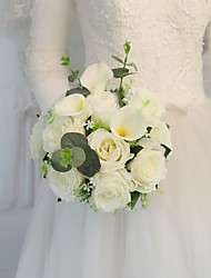 Недорогие -Свадебные цветы Букеты Свадьба / Свадебные прием С бусинами / Шелк 11-20 cm