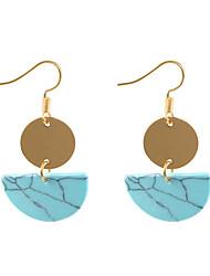 ราคาถูก -สำหรับผู้หญิง โบราณ Drop Earrings - แฟชั่น สไตล์น่ารัก เครื่องประดับ สีดำ / สีเขียว สำหรับ ทุกวัน เทศกาล 1 คู่