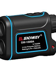 お買い得  -SNDWAY SW-1500A 5~1500M ゴルフレーザーレンジファインダー 多機能 / オートパワーオフ / AirPlayの アウトドアスポーツ用 / 屋外測定用