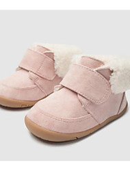 Недорогие -Мальчики / Девочки Обувь Кожа Зима Обувь для малышей Кеды На липучках для Дети Розовый / Хаки