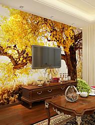 baratos -papel de parede / Mural Tela de pintura Revestimento de paredes - adesivo necessário Árvores / Folhas / Padrão / 3D