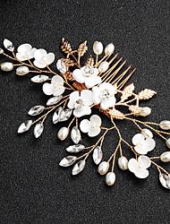 billige -Legering Hair Combs med Krystal / Imitationsperler 1 Stykke Bryllup / Dagligdagstøj Medaljon