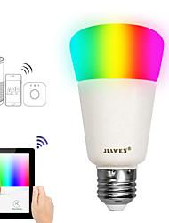 Недорогие -JIAWEN 1шт 9 W 750 lm E26 / E27 Умная LED лампа A19 31 Светодиодные бусины SMD 3528 Smart / Контроль APP / синхронизация RGBW 100-240 V
