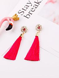 ราคาถูก -สำหรับผู้หญิง พู่ Drop Earrings - ฝรั่งเศส เครื่องประดับ สีชมพู / เทาเข้ม / สีน้ำตาลอ่อน สำหรับ เป็นทางการ เทศกาล 1 คู่