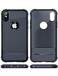 Недорогие -Кейс для Назначение Apple iPhone XS / iPhone XS Max Защита от удара Кейс на заднюю панель Однотонный Мягкий ТПУ для iPhone XS / iPhone XR / iPhone XS Max