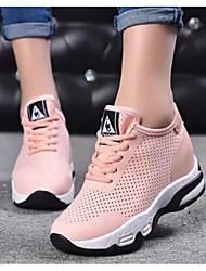 Недорогие -Жен. Сетка Лето Спортивная обувь Беговая обувь Скрытая пятка Белый / Черный / Розовый
