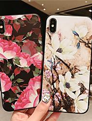 povoljno -Θήκη Za Apple iPhone XR / iPhone XS Max Mutno / Reljefni uzorak / Uzorak Stražnja maska Cvijet Mekano TPU za iPhone XS / iPhone XR / iPhone XS Max