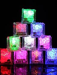 Недорогие -12pcs diy красочная вспышка водить кубики венчания празднества празднества празднества празднества светящиеся водить светящиеся индукции льда cubeschristmas новый год адвокатское сословие