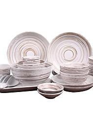 abordables -1 set 20 pièces Services de Vaisselle Plats de Service Ensemble en porcelaine Vaisselle Porcelaine Céramique Mignon Créatif Résistant à la chaleur