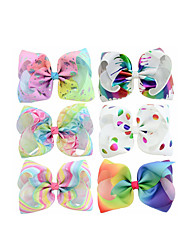 Недорогие -Ткань для печати Зажим для волос с Узоры / принт 6 На каждый день Заставка