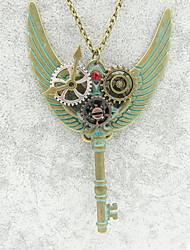 Недорогие -Жен. Классический Заявление ожерелья - Шестерня Дамы, Steampunk Cool Бронзовый 60+5 cm Ожерелье Бижутерия 1шт Назначение Ночь и особый случай, Профессиональный стиль